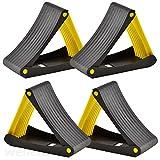 2 Paar Bremskeile Radvorleger Stützblöcke klappbar, für Anhänger, Bootstrailer, Autoanhänger
