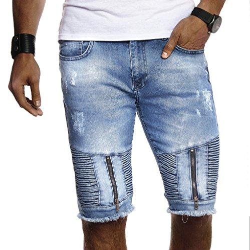 LEIF NELSON Herren Männer Jungen Sommer Kurze Biker Jogger Jeans Hose Shorts Jeanshose Chinos Cargo Bermuda Basic |