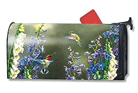 Hummingbird Garden Large Spring Magnetic Mailbox Cover Floral Birds Oversized