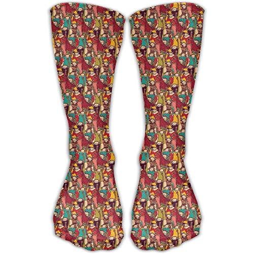 Novelcustom Funny Monkey Pattern Fashionable Sock Long Socks Sports Athletic Crew Socks Men Women 50cm/19.7