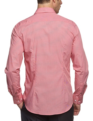 ESPRIT Collection Herren Businesshemd Slim Fit, kariert 993EO2F903 Rot (998 C LIGHT STONE USED) (CM)
