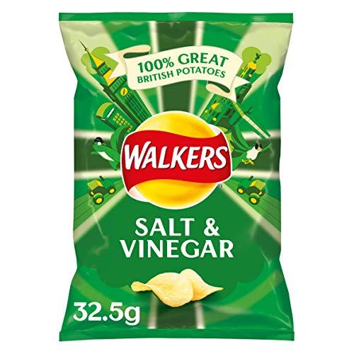 Walkers Crisps Salt & Vinegar 32 x 32,5g (Britische Kartoffel-chips)