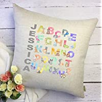 565pir Alphabet Baby Pillow Cover Baby Name Pillow Alphabet Name Pillow Nursery Decor Baby decor Baby Gift Baby