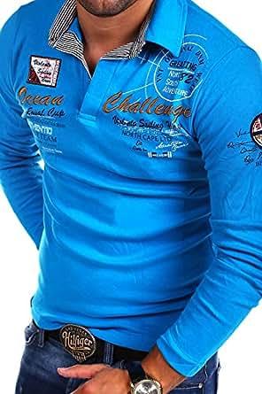 MT Styles Langarm Poloshirt OCEAN Pullover R-0740 [Türkis, M]