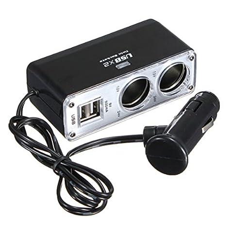 WINOMO Voiture chargeur double USB auto à 2 voies répartiteur