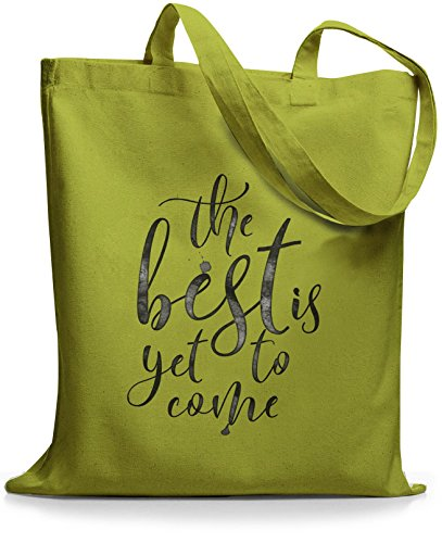 StyloBags Jutebeutel / Tasche The best is yet to come Kiwi