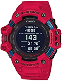 Casio G-shock Red Smartwatch G-squad Series for Men with Heart Rate Monitor + GPS Fuction + Solar Powered - GBD-H1000-4DR (G1037)