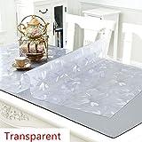 PVC-Transparente tischdecke,Wasserdicht Anti-verbrühende Isolierte Spitze Tischdecken,Couchtisch-untersetzer,Für Hotel Küche Partei-A 90x160cm(35x63inch) - 5