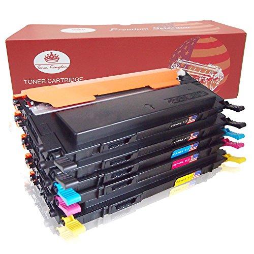Toner Kingdom 5 Paquete Compatible Cartucho de tóner Para Samsung CLT K4072S CLP 320 CLP 320N CLP 320W CLP 320N CLP 325 CLP 325N CLP 325W CLX 3180 CLX 3180FN CLX 3180FW CLX 3185 CLX 3185F CLX 3185FN CLP 3185FW CLX 3185N CLX 3185W Impresora (2 Negro, 1 Cian,1 Magenta,1 Amarillo)