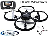 s-idee® 01609 Quadcopter Udi U818A FPV 5.8 GHz Transmission HD Camera U818 4.5 Channel 2.4 GHz Drone with Gyroscope Technology with WiFi FPV Drone HD Camera