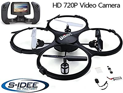 s-idee® 01609 Quadrocopter Udi U818A FPV 5.8 GHz Transmission HD CAMERA U818 4.5 Channel 2.4 Ghz Drone with Gyroscope Technology DROHNE WITH WIFI FPV Drone HD Camera from Fa. s-idee Retail