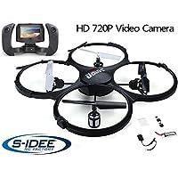 s-idee® 01609 Quadrocopter Udi U818A FPV 5.8 GHz Übertragung HD KAMERA U818 4.5 Kanal 2.4 Ghz Drohne mit Gyroscope Technik DROHNE MIT WIFI FPV Drone HD Kamera
