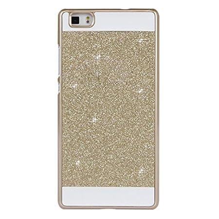 Huawei P8 Lite Hülle Handyhülle, Asnlove Bling Brillante Glitzer Slim Hard-Case Back-Cover Schutzhülle, Handy-Tasche im…
