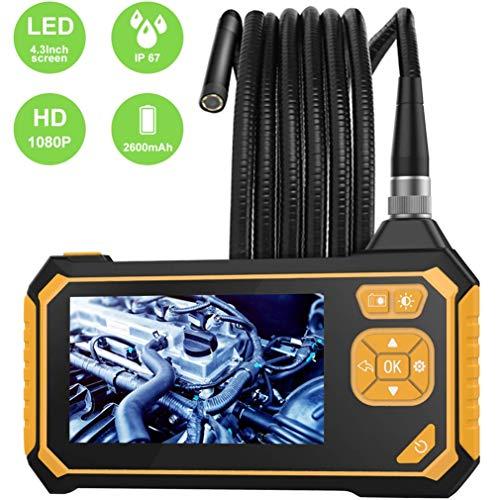FSM88 Industrie Endoskop Mit 4.3Inch Schirm, 3.9Mm Borescope 2600Mah Batterie, Semi Rigid-Wasserdichten Kamera-Sonde 6 LED-Leuchten Für Präzisions-Erkennung,1m