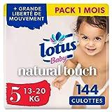 Lotus Baby Natural Touch - Culottes Taille 5 (13-20 kg) - lot de 4 packs de 36...