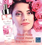 Pure and Natural Bulgarian Rose Hydrosol Floral Essential Water huge 500 ml Atomiser Organically Raised Water, Facial Toner Sensitive Skin Mist Food Flavor - medical grade, bleumarine Bretania, Made in France