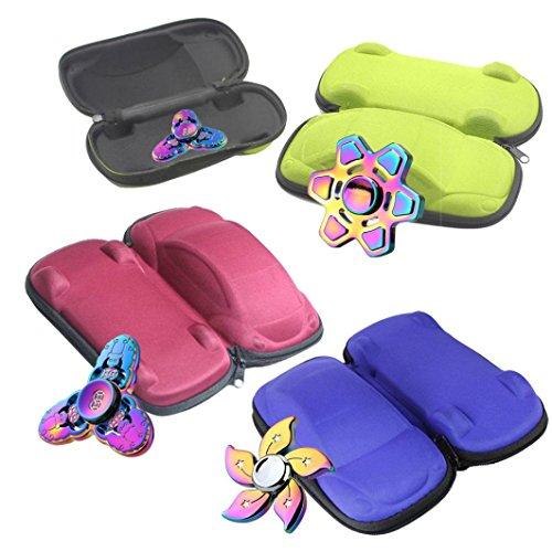 Preisvergleich Produktbild Webla Handspinner Geschenk für Fidget Hand Spinner Dreieck Finger Spielzeug Focus ADHD Autismus Tasche Box Tragetasche Packet(Wir senden das Produkt zufällig)