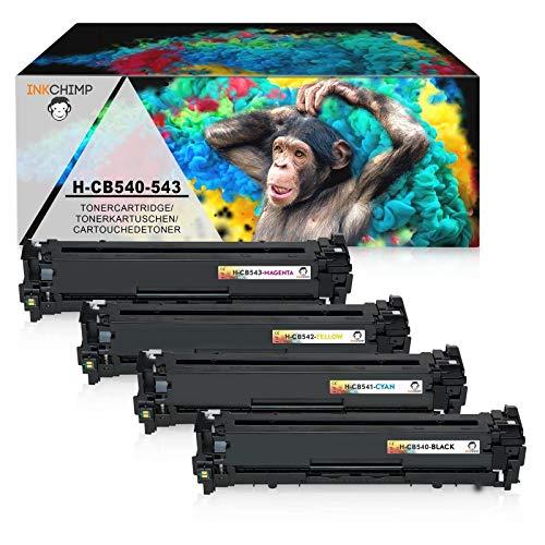 4 InkChimp Toner Kompatibel zu HP CB540 CB540A CB541A CB542A CB543A 125A Set Toner für HP Color LaserJet CP1215 1515N CP1515 CP1514N CP1518NI CM1312 NFI MFP CM1312NFI MFP HP CM 1312 MFP HP LaserJet 1312 CM1312 HP Color Laserjet CP 1217 HP Laserjet 1217