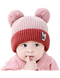 9eb24d16f1d CATSAP Infant Baby Winter Thick Warm Knit Hat Toddler Kid Crochet Hairball  Beanie Cap Photo Props