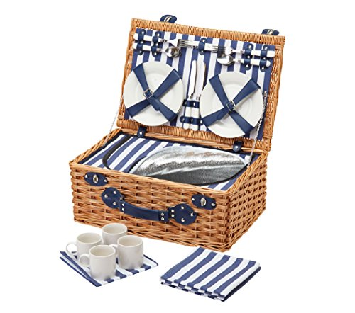 Kitchen Craft Coolmovers-Cestino da Picnic in vimini di persone