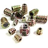 M6 x 13mm, FLANGED HEX DRIVE SCREW IN FLANGE THREADED INSERT FOR WOOD (Type D) (10)