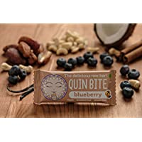 QUIN BITE Blueberry; Raw fruit & nut bar; Quin Bite - The delicious raw bar! 12x30g