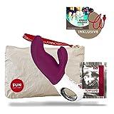 Fun Factory MISS BI violett Vibrator für Frauen Klitoris und G-Punkt (inklusive Tasche + Gleitgel) Silikon