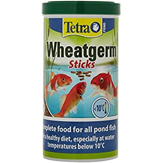 Tetra Pond Wheat Germ Sticks, Pond Fish Food Specially Formulated for Cold Weather Feeding, 1 Litre 14