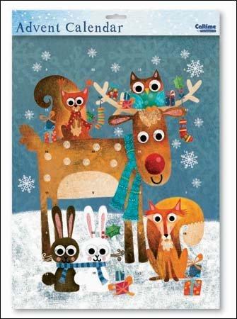 Large Advent Calendar (WDM9832) Caltime - Festive Flurry - Woodland Friends