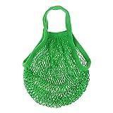 Einkaufsnetz Netze Tasche Kartoffelsack aus Bio-Baumwollschnur ver. Farbe - Grün