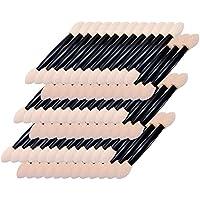 Romote 100 piezas desechables sombra de ojos cepillo de doble cara aplicador de esponja cepillo del maquillaje
