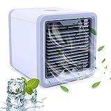ECMQS Mobile Klimageräte, Mini Klimaanlage Tragbar Luftkühler USB Air Cooler Conditioner mit Luftbefeuchter & Luftreiniger Air Cooler mit Wasserkühlung Zimmer für Büro, Hotel, Garage, 3 Kühlstufen