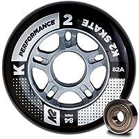 K2 30B3010.1.1.1SIZ - Juego de 8 Ruedas de Rendimiento para Patines en línea, 84 mm, ILQ 7, tamaño único, Multicolor