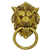 United Graphix Decorative Lion Face Brass Metal Door Knocker Traditional Home Decors Indian Art
