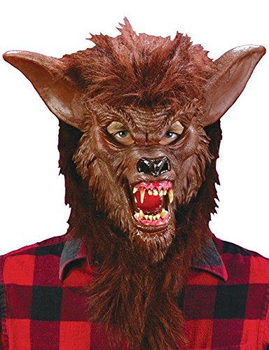 Deluxe Werwolf Halloween Maske braun (Werwolf Deluxe Maske)