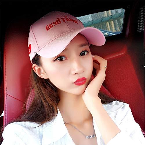 ichen Sommer koreanische Version des Outdoor-Baseball-Hut Herrenmode Wild Street Ente Zunge Sonnenhut [gebrochenes Herz] rosa einstellbare Kappengröße ()