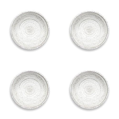Auntie Morags Epicurean-Artisan Pearl 21cm melamina Placas Laterales, Juego de 4