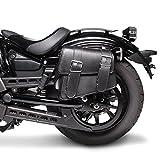 Motorrad Satteltasche für Custom Bikes Montana schwarz links