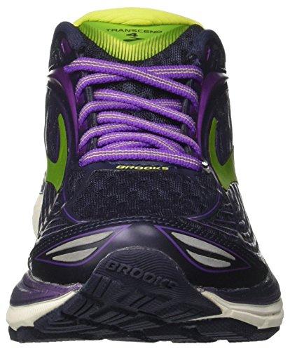 Brooks Transcend 4, Chaussures de Course Femme Multicolore (Peacoat/iridesium/limepunch)