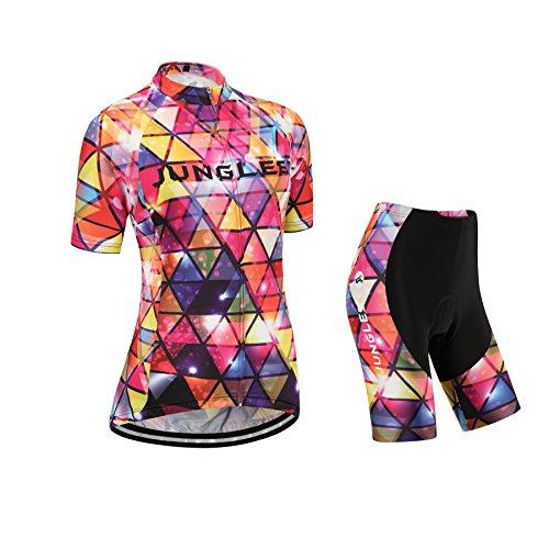 new JUNGLEST / Camisetas de ciclismo / manga corta / mujer / 3D Cojín / M