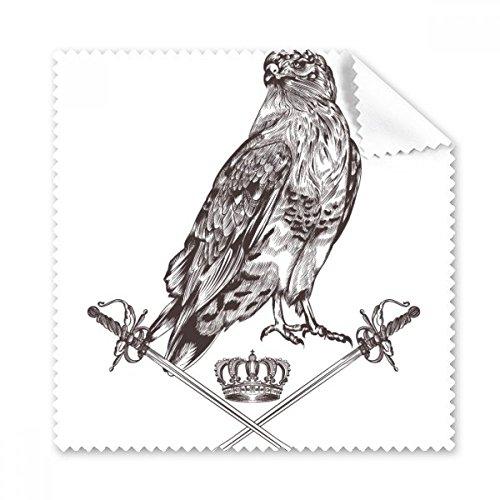 Eagle Sword Krone Tier Schwarz Weiß Barock Style Brille Reinigungstuch Reinigungstuch Geschenk Handy-Display von 5x