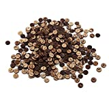 #7: Natural Brown Coconut Shell 2 Holes Sewing Resin Buttons Accessories for Arts, DIY Crafts, Scrapbook, Decoration, Sewing (10 mm) 400PCs