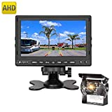PUMPKIN Rückfahrkamera und Monitor Set Einparkhilfe mit 7 Zoll LCD Farbdisplay Rear View Monitor Sony Sensor IP69 Wasserdichte Kamera für Auto, Bus, LKW, Schulbus, Anhänger