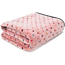 PAWZ Road Mascota para perros manta de cama cubierta de tela de vellón suave y lindo ( Color : Pink , Size : METRO )