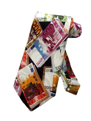 Talggini Krawatte Männer Euro Noten Währung Krawatte - schwarz - Einheitsgröße