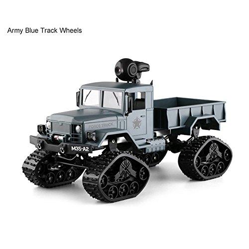 Colorful 1/16 RC Military Truck,RC Militär LKW mit Wifi Kamera 4WD Armee Crawler Offroad Auto App Control,Spielzeug für Kinder Geburtstag und Weihnachten Geschenke