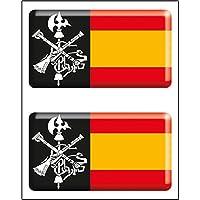 Artimagen Pegatina rectángulos Logo Legión 2 uds. Resina 48x26 mm/ud.