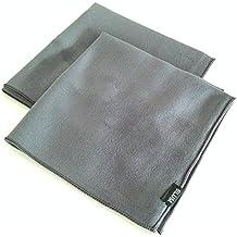 Blum - 2x Panno in microfibra 30x30 cm colore grigio