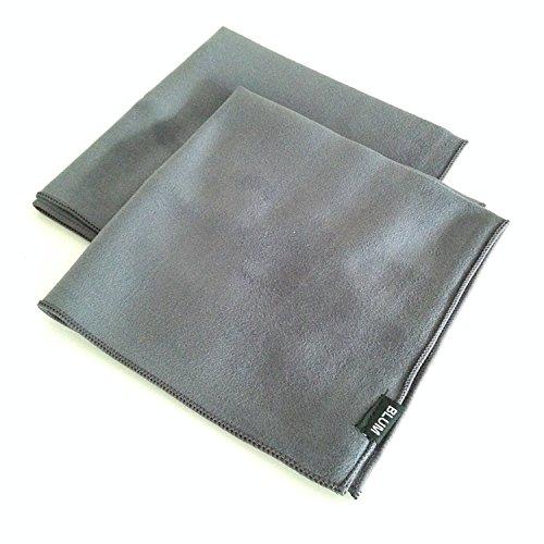 Preisvergleich Produktbild Blum - 2x Display-Reinigungstuch 30x30 cm - grau - Streifenfreie Reinigung aller Bildschirme / Displays für Computer / Laptop / Tablet / TV / Smartphone ...
