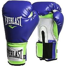 Everlast Pro Style Training Guantes, Hombre, Azul/Verde, 39,8 Cl